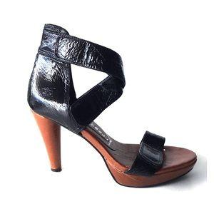JEFFREY CAMPBELL || Black Maya Strappy Heels Sz 8